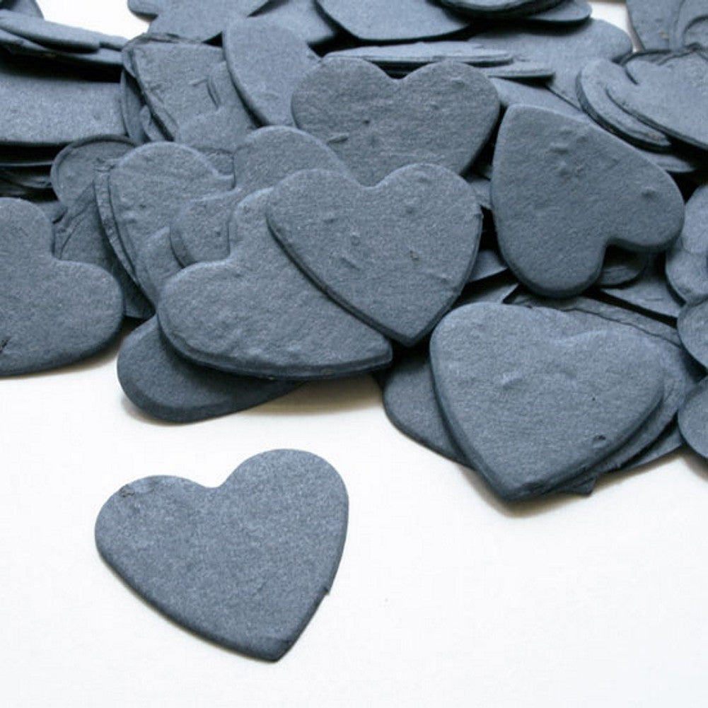 Heart Shaped Plantable Seed Confetti in French Blue, blue wedding favors, heart shaped wedding favors, seed favors, plantable seed confetti, Eco-Friendly Favors