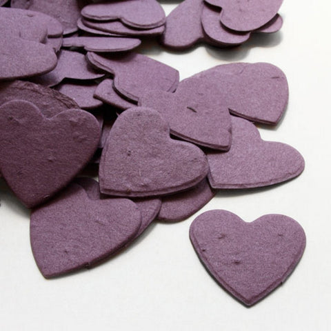 Heart Shaped Plantable Seed Confetti in Purple - Sophie's Favors and Gifts