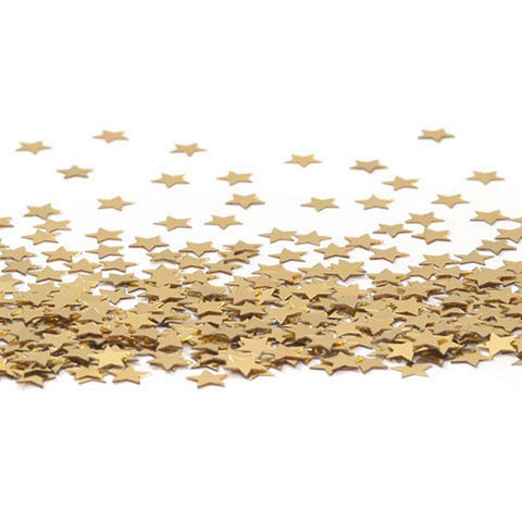 Confetti Pack - 11mm Stars - Gold (14 g. or 0.5 oz.) - Sophie's Favors and Gifts