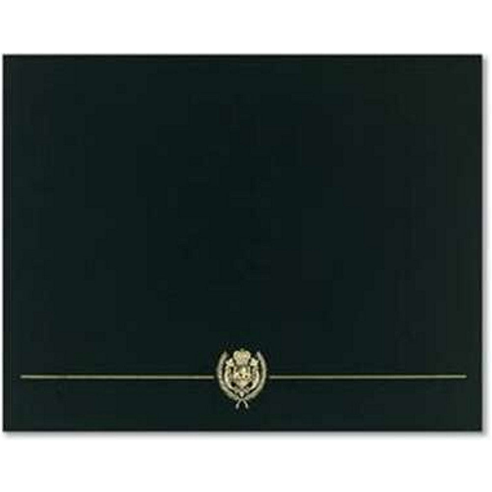 Classic Crest Black Certificate Covers (Pack of 5) - Sophie's Favors and Gifts
