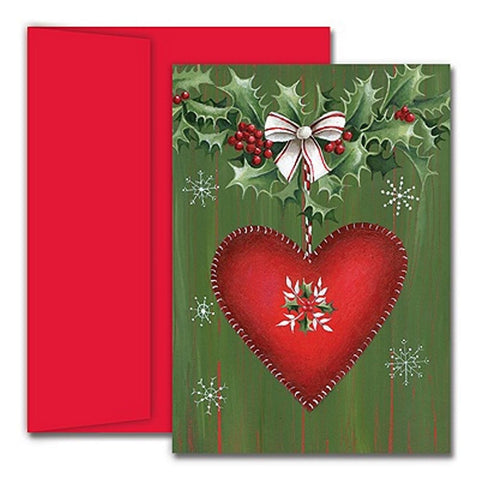 Heartfelt Greetings Holiday Cards With Red Envelopes - Sophie's Favors and Gifts