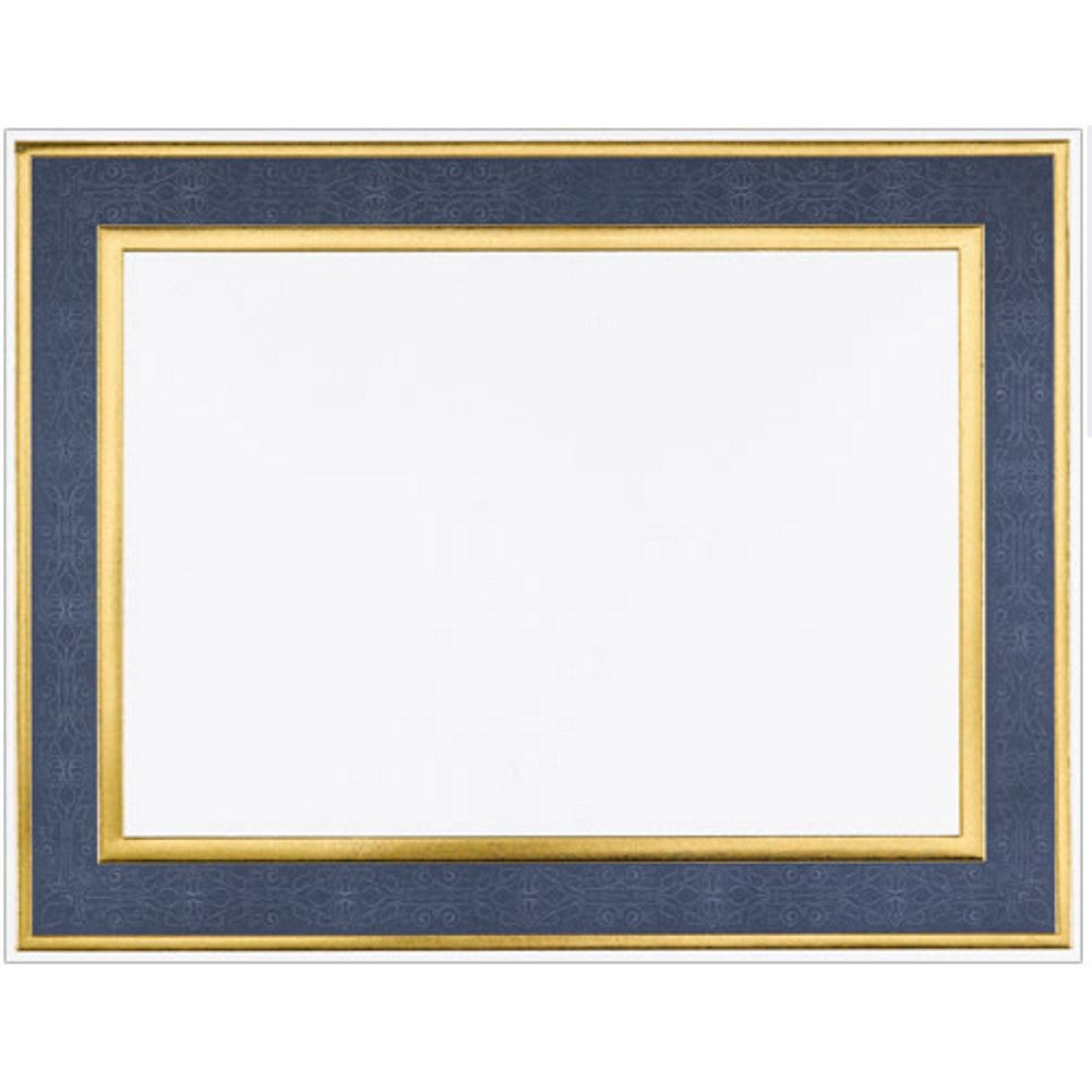 Navy Blue Frame Foil Certificates - Pack of 15 - Sophie's Favors and Gifts