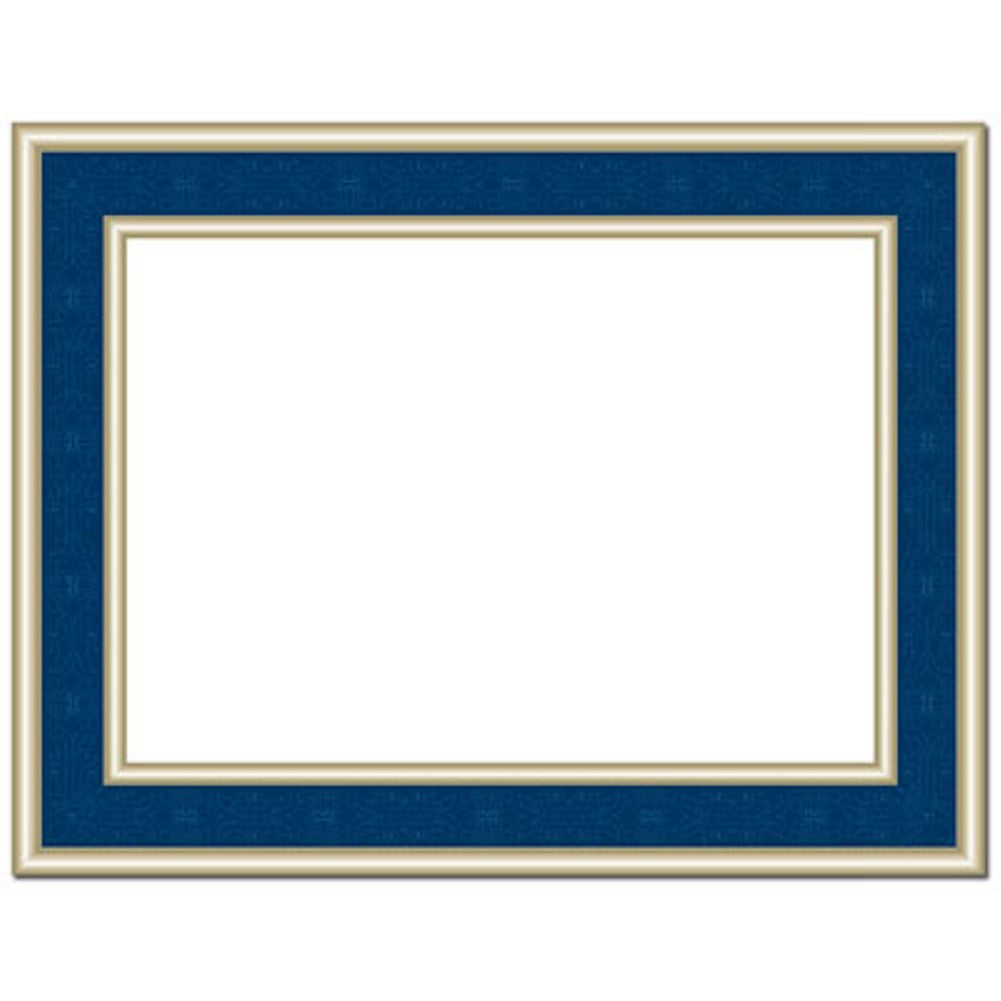 Navy Blue Frame Foil Certificates - Pack of 30, award certificate, blank certificate, blank certificate paper, certificate paper stock, Stationery & Letterhead