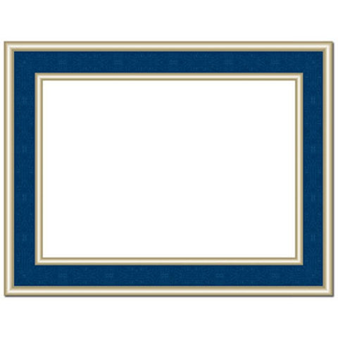 Navy Blue Frame Foil Certificates - Pack of 30 - Sophie's Favors and Gifts