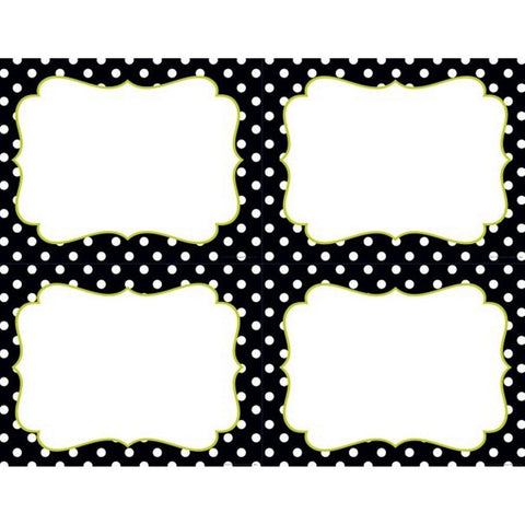 Black And White Dots 4-Up Postcards - Pack of 40 - Sophie's Favors and Gifts