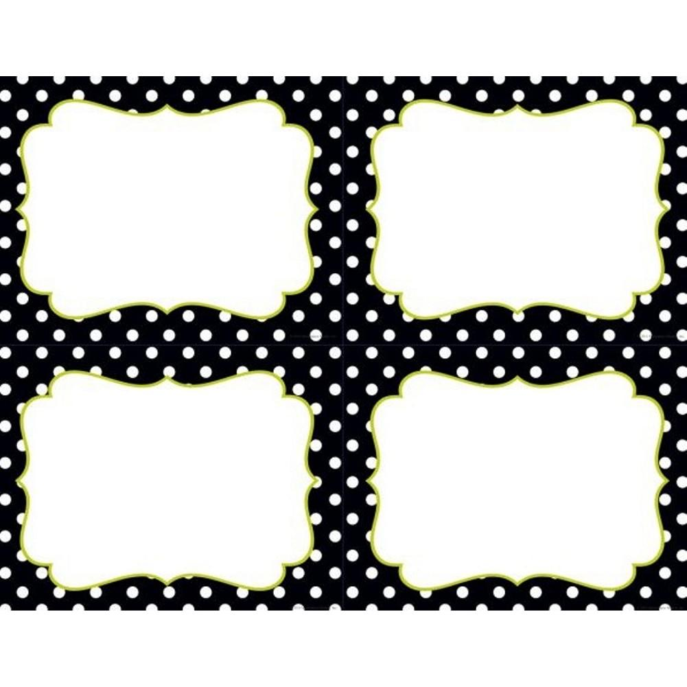 Black and White Dots 4-Up Postcards - Sophie's Favors and Gifts