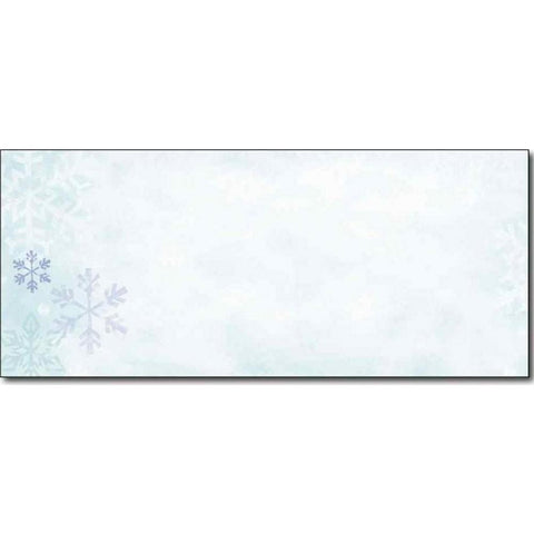 Blue Flakes No. 10 Envelopes, christmas stationery, christmas letters, snowflake decorations, no. 10 envelopes, Stationery & Letterhead
