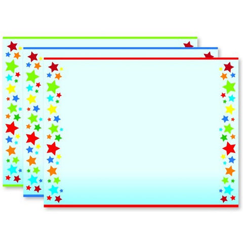 Rainbow Stars Certificate Assortment - Pack of 60 - Sophie's Favors and Gifts