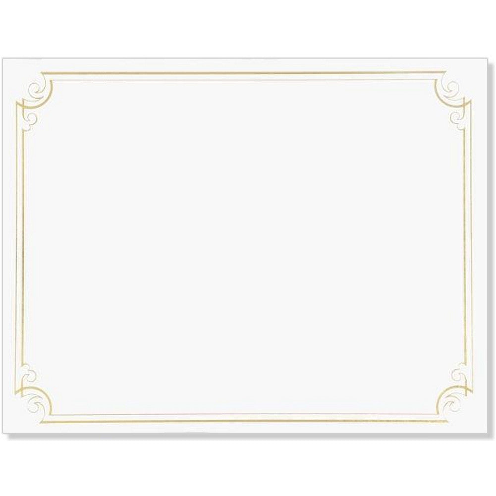 Golden Scroll Frame Foil Certificates (Pack of 12) - Sophie's Favors and Gifts