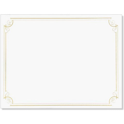 Golden Scroll Frame Foil Certificates - Pack of 24 - Sophie's Favors and Gifts