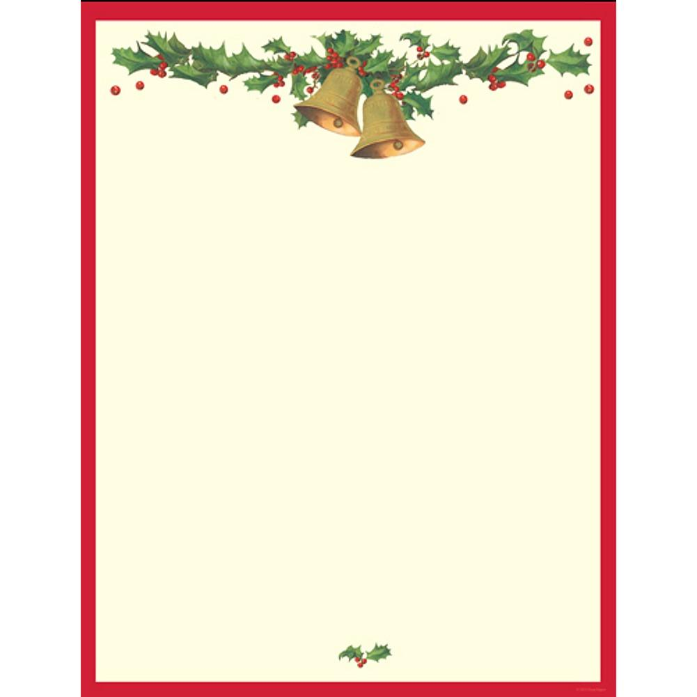 Antique Holiday Bells Letterhead Sheets - Sophie's Favors and Gifts