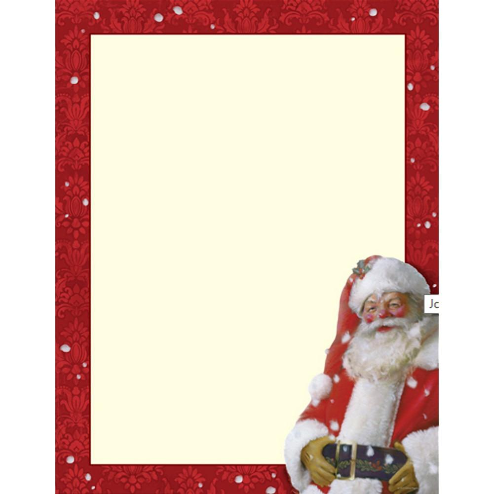 Jolly St. Nick Letterhead Sheets - Sophie's Favors and Gifts