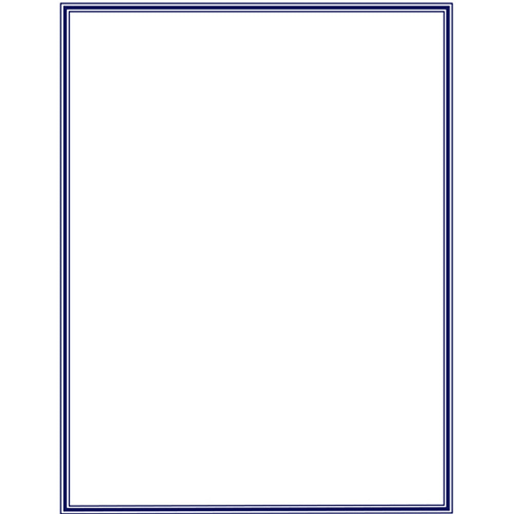 80 Navy Blue Border Letterhead Sheets - Sophie's Favors and Gifts