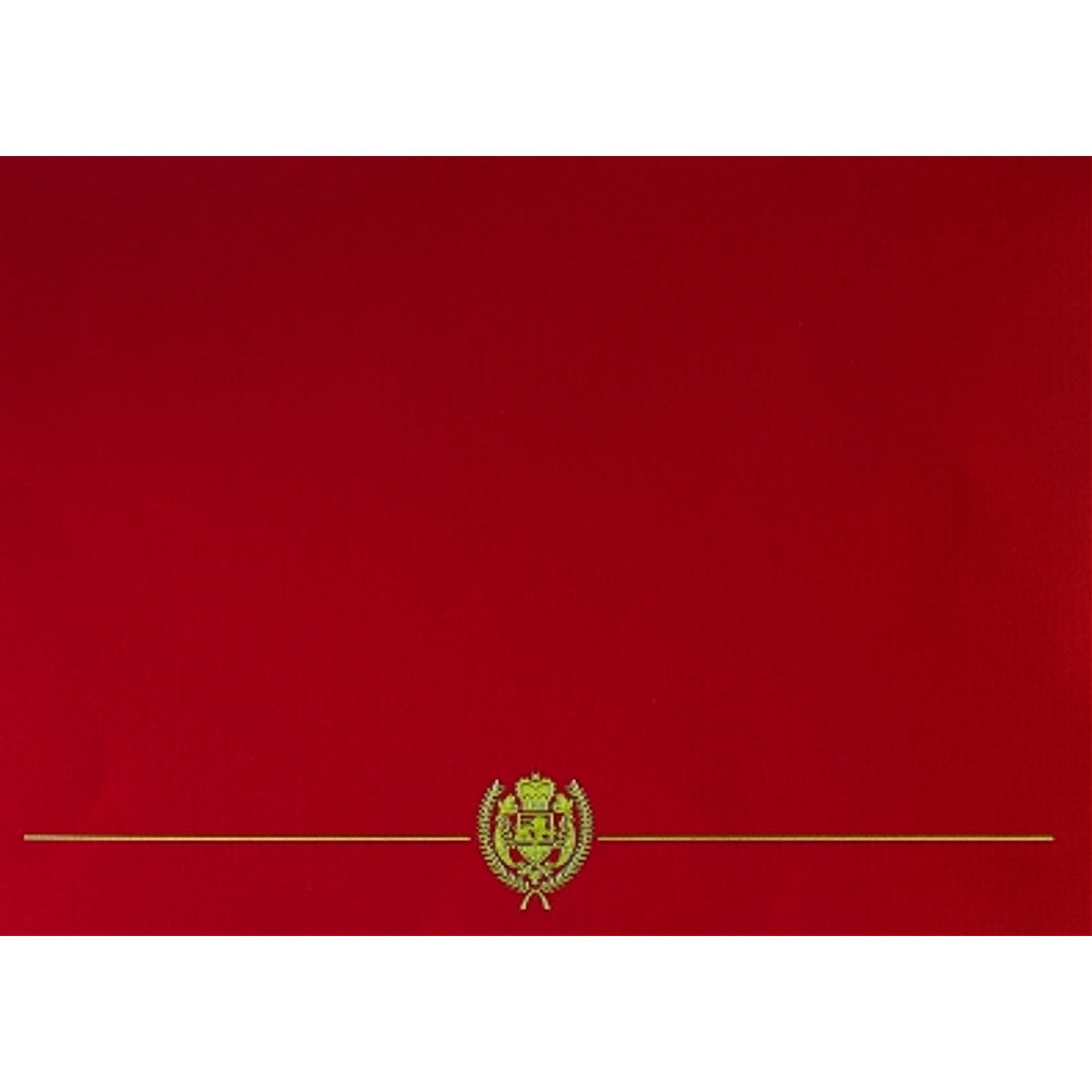 Classic Crest Red Certificate Covers (Pack of 5) - Sophie's Favors and Gifts