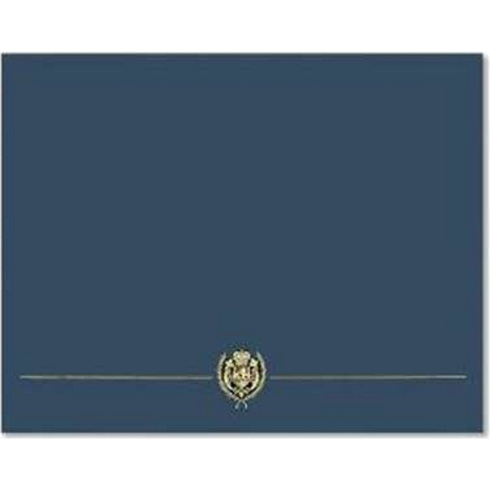 Classic Crest Navy Blue Certificate Covers - Pack of 5, diploma covers, diploma cover, certificate frames, certificate holders, Stationery & Letterhead