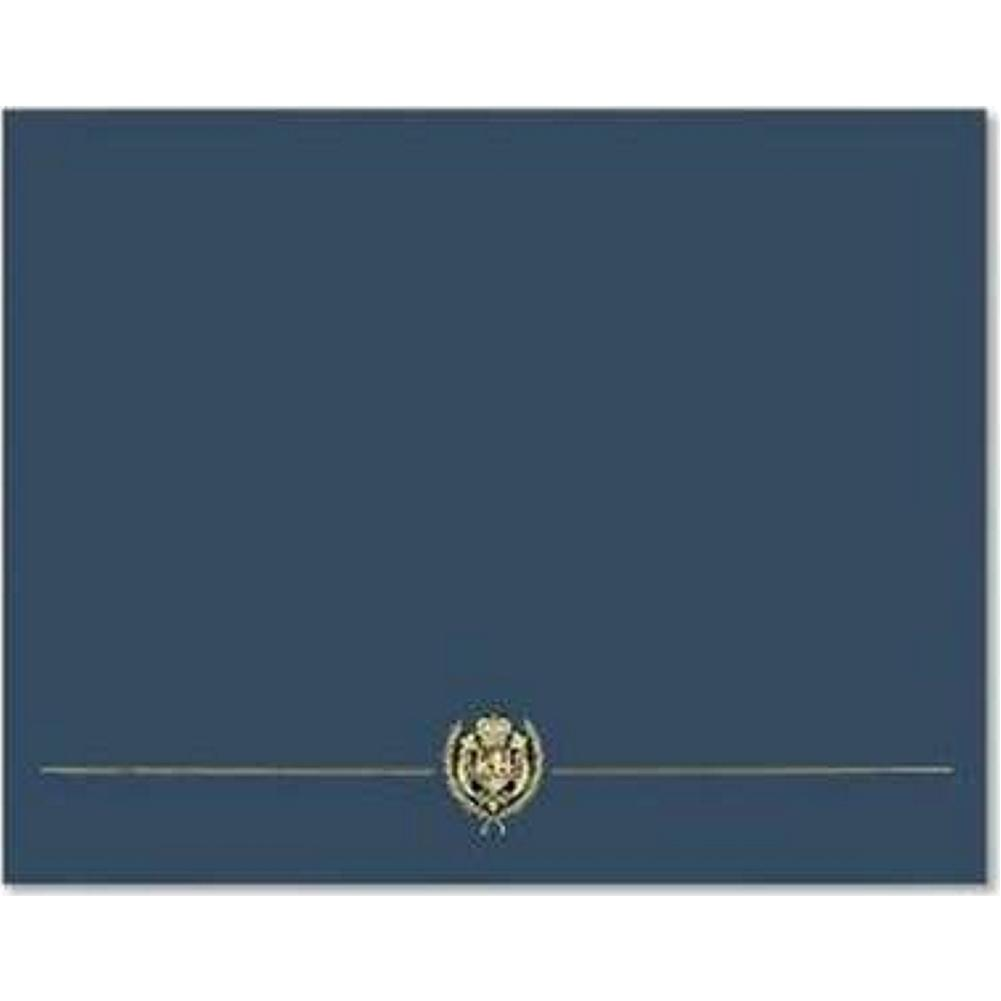 classic crest navy blue certificate covers