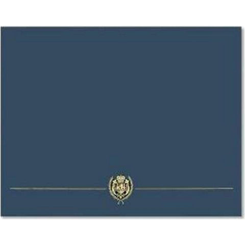 Classic Crest Navy Blue Certificate Covers - Sophie's Favors and Gifts