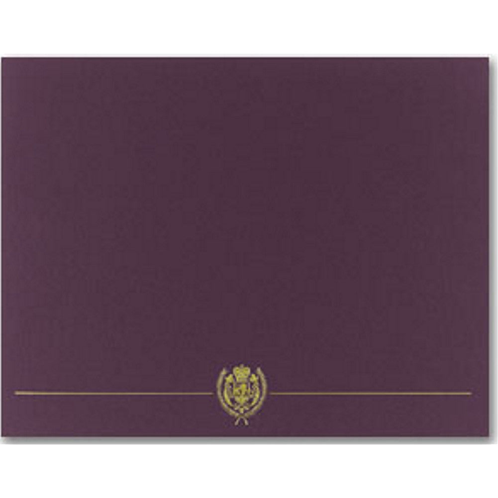 Classic Crest Plum Certificate Covers (Pack of 5) - Sophie's Favors and Gifts