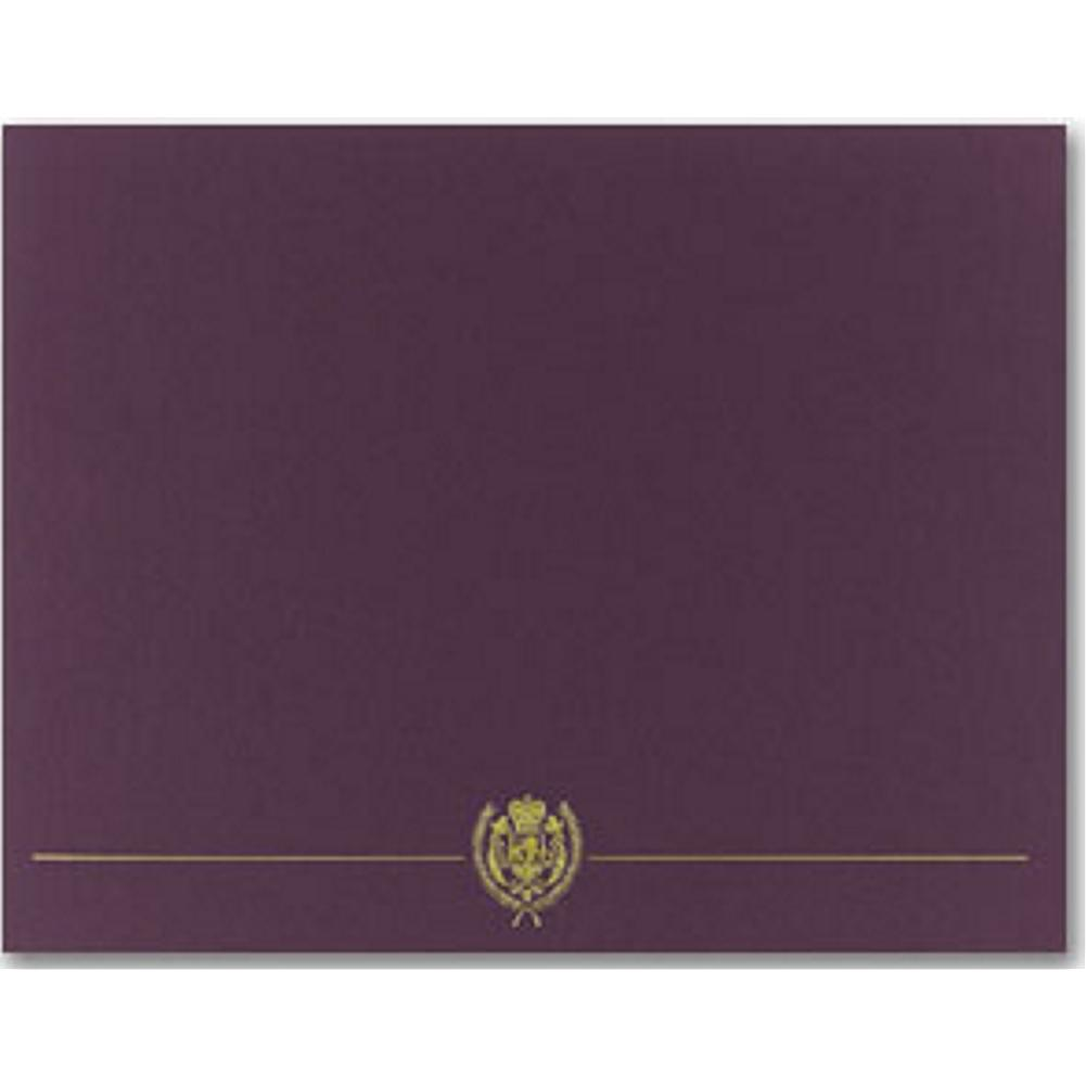 Classic Crest Plum Certificate Covers - Sophie's Favors and Gifts