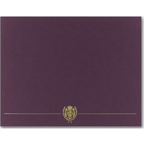 Classic Crest Plum Certificate Covers, diploma covers, diploma cover, certificate frames, certificate holders, Stationery & Letterhead