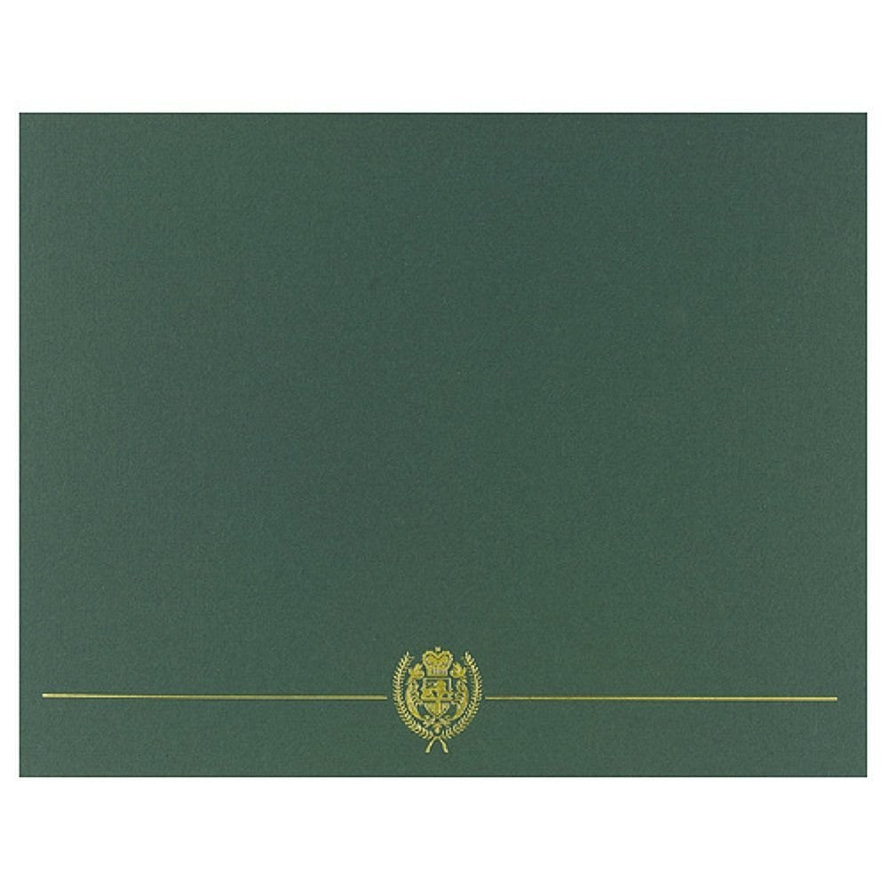Classic Crest Hunter Green Certificate Covers - 5 Pack - Sophie's Favors and Gifts