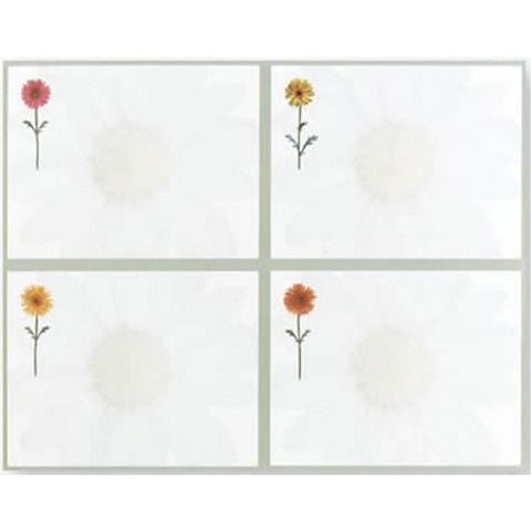 Daisies 4-Up Postcards, flower invitations, flower paper, floral letterhead, floral postcards, Stationery & Letterhead