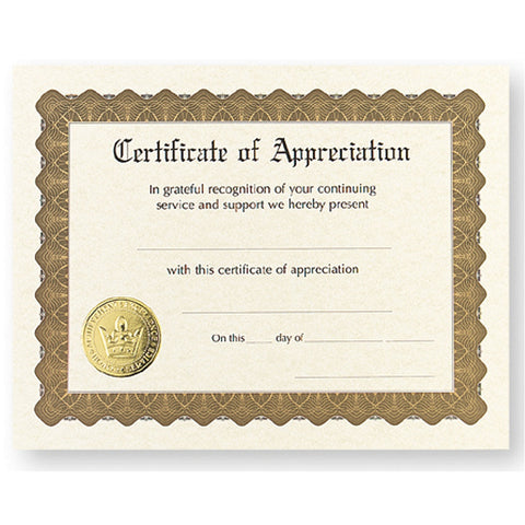 Certificate of Appreciation, award certificate, blank certificate, blank certificate paper, certificate paper stock, Stationery & Letterhead