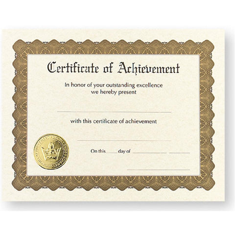 Certificate of Achievement, award certificate, blank certificate, blank certificate paper, certificate paper stock, Stationery & Letterhead