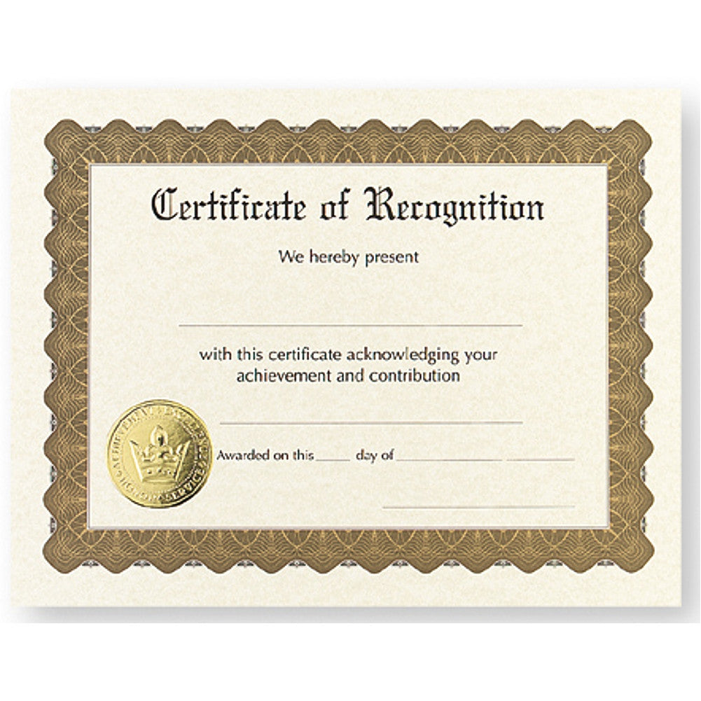 Certificate of Recognition - Pack of 12 - Sophie's Favors and Gifts