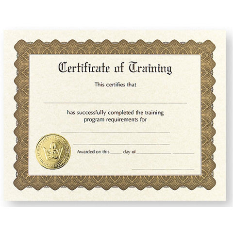 Certificate of Training - Sophie's Favors and Gifts