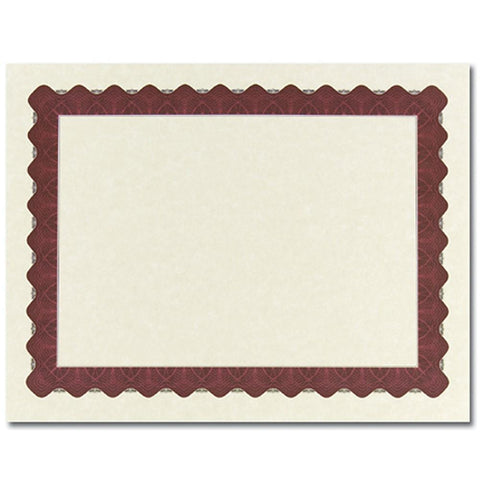 Metallic Red Parchment Certificates - Sophie's Favors and Gifts