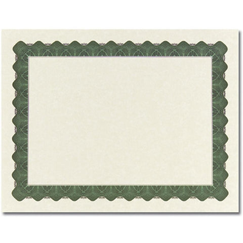 Metallic Green Parchment Certificates - Sophie's Favors and Gifts
