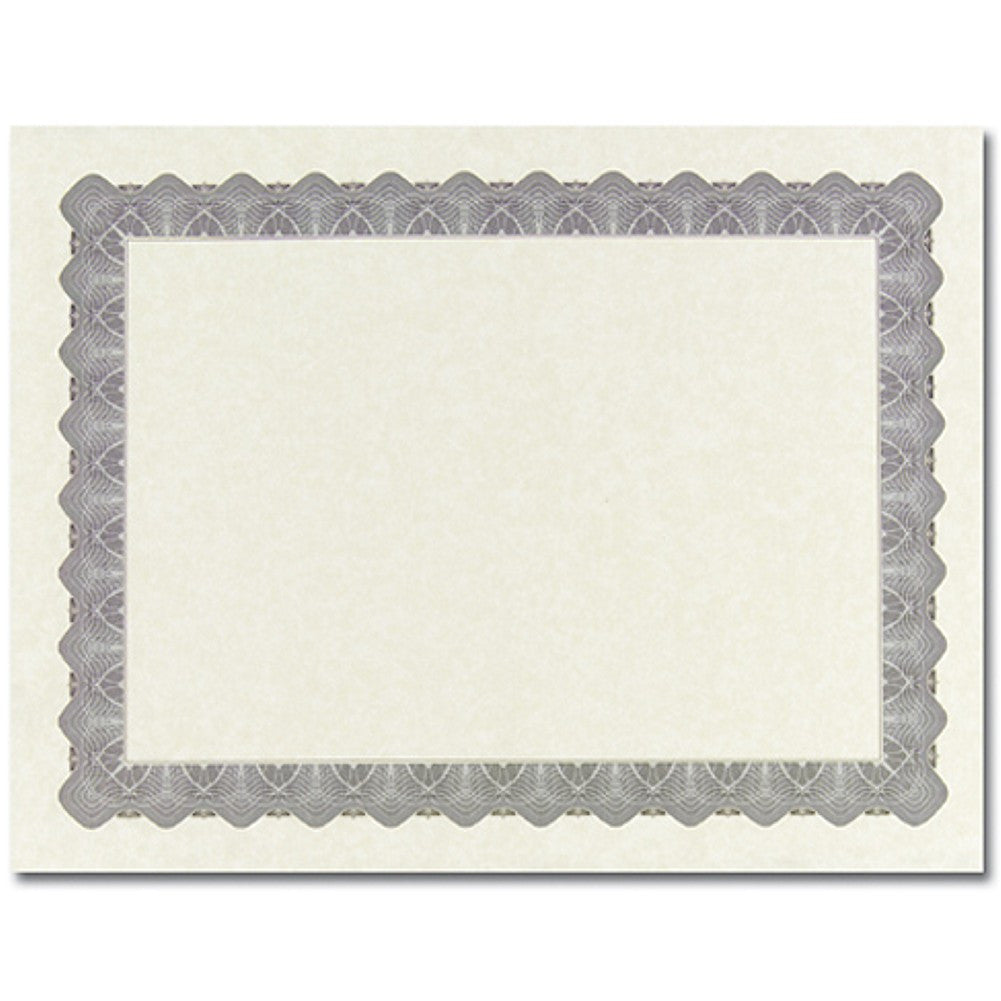Metallic Silver Parchment Certificates - Sophie's Favors and Gifts