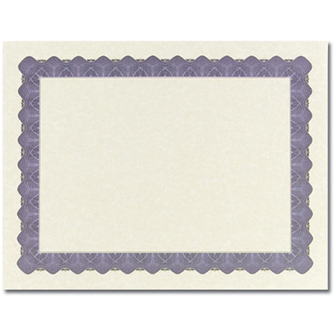 Metallic Slate Blue Parchment Certificates - Sophie's Favors and Gifts