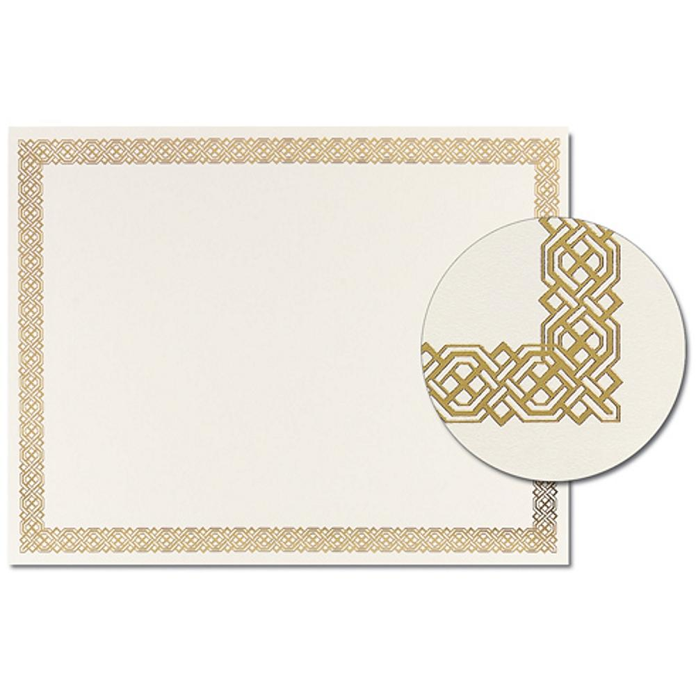 Gold Braided Foil Certificates - Pack of 12, award certificate, blank certificate, blank certificate paper, certificate paper stock, Stationery & Letterhead