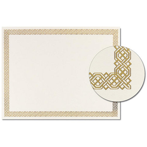 Gold Braided Foil Certificates - Pack of 12 - Sophie's Favors and Gifts