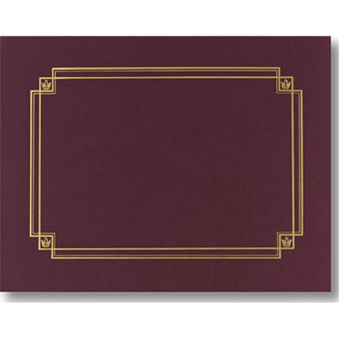 Linen Burgundy Certificate Covers - Sophie's Favors and Gifts