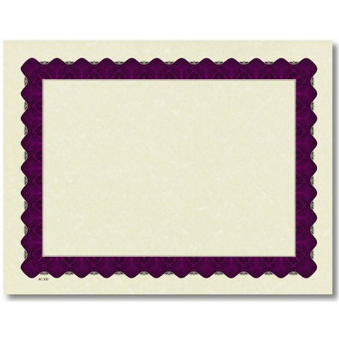 Purple Border Parchment Certificates - Sophie's Favors and Gifts