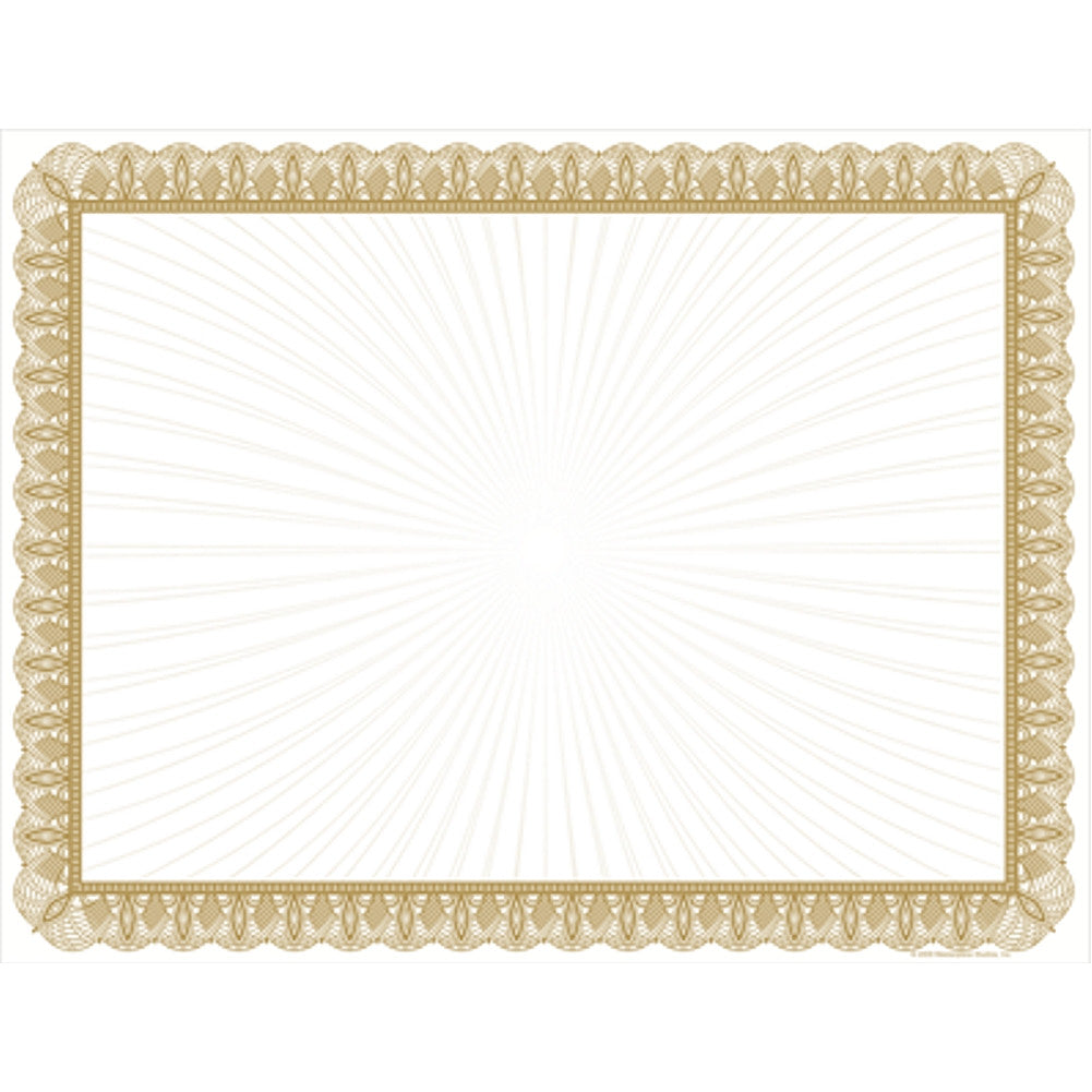 Gold Value Certificates - Pack of 100 - Sophie's Favors and Gifts