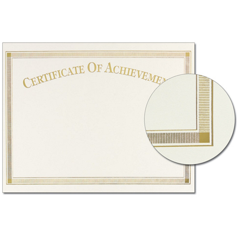 Gold Foil Certificate of Achievement, award certificate, blank certificate, blank certificate paper, certificate paper stock, Stationery & Letterhead