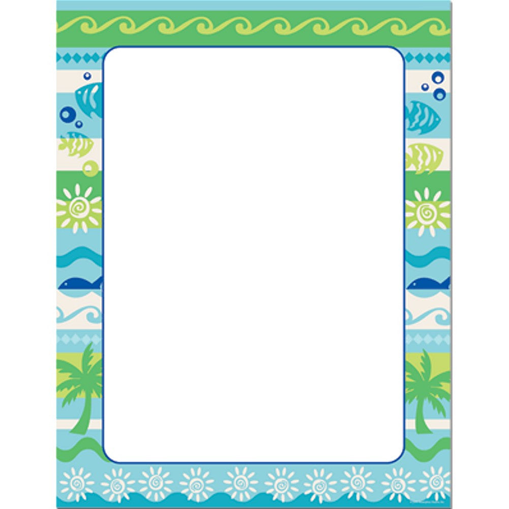 100 Summer Getaway Letterhead Sheets - Sophie's Favors and Gifts