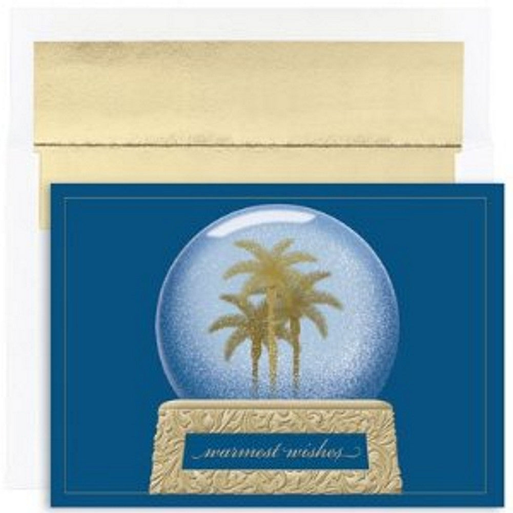 Snowglobe of Warm Wishes Boxed Christmas Cards and Envelopes - Sophie's Favors and Gifts