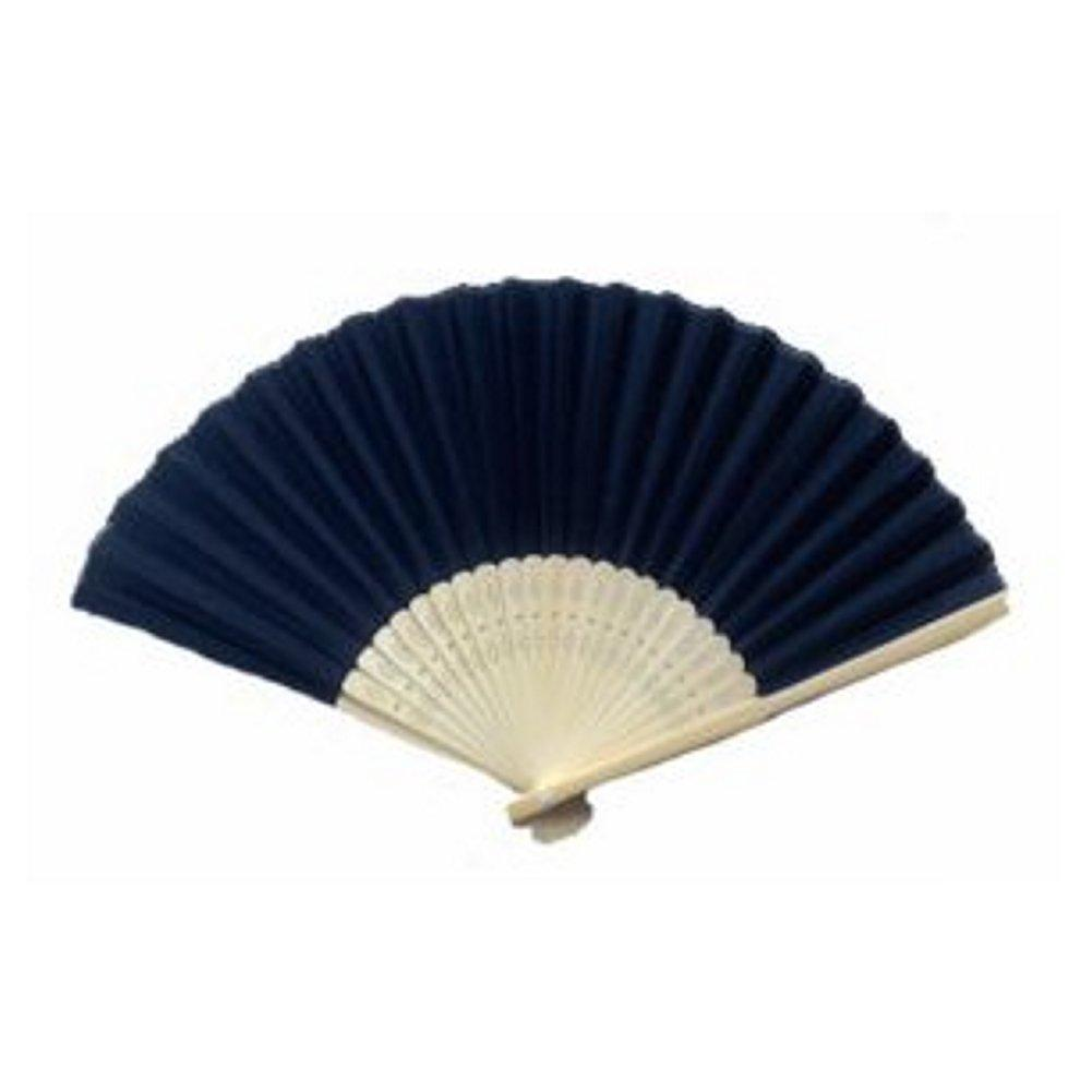 Silk Fan - Black (set of 10) - Sophie's Favors and Gifts