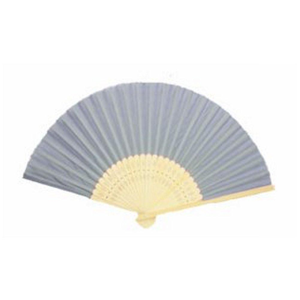 Silk Fan - Grey (set of 30) - Sophie's Favors and Gifts