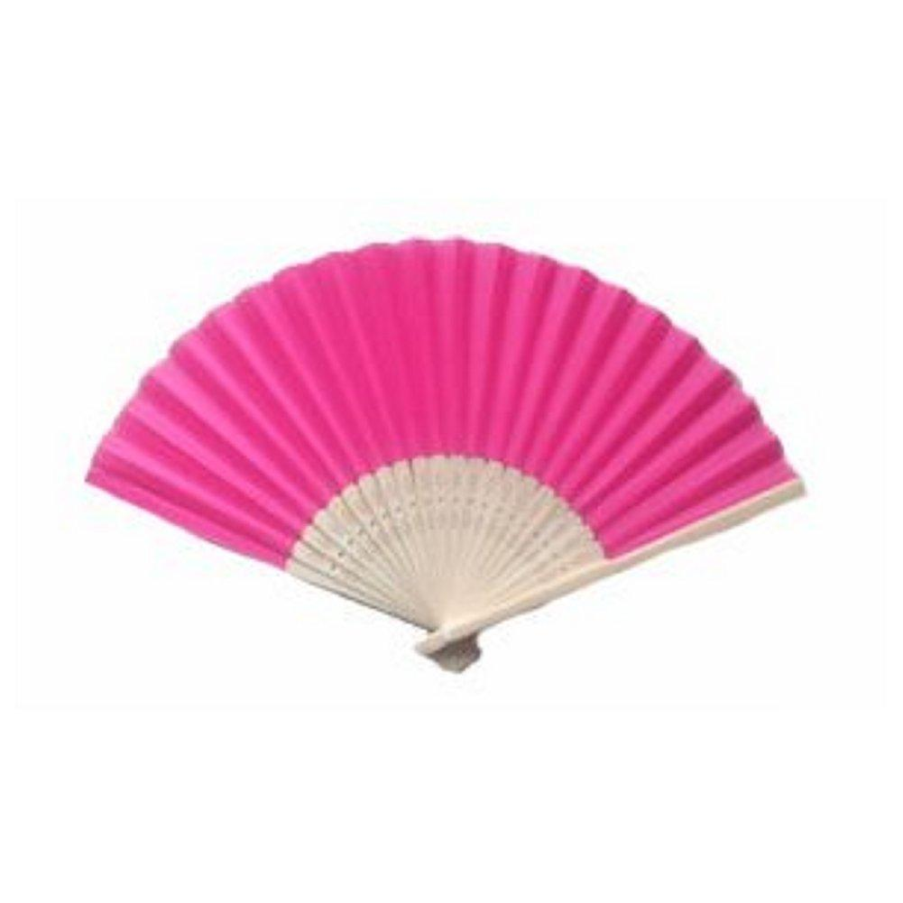 Silk Fan - Hot Pink (set of 10) - Sophie's Favors and Gifts