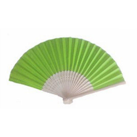 Silk Fan - Light Lime (set of 10) - Sophie's Favors and Gifts