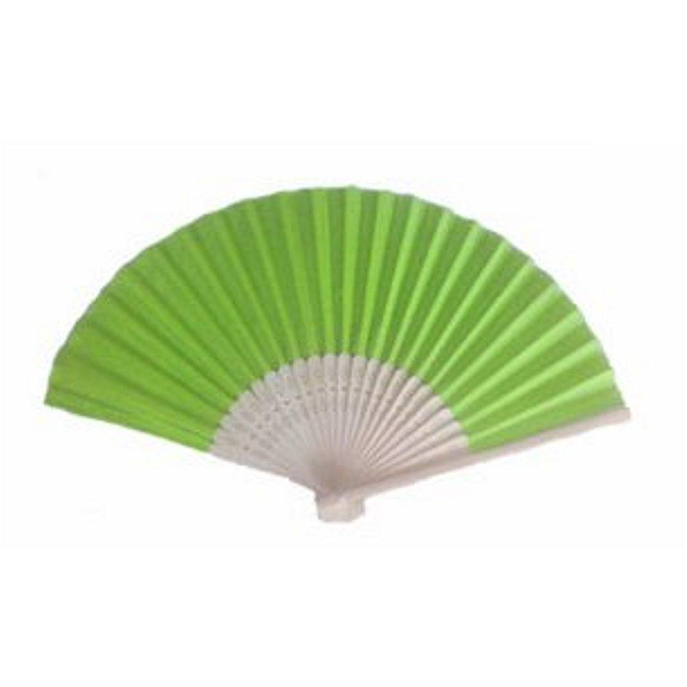 Silk Fan - Light Lime (set of 40) - Sophie's Favors and Gifts