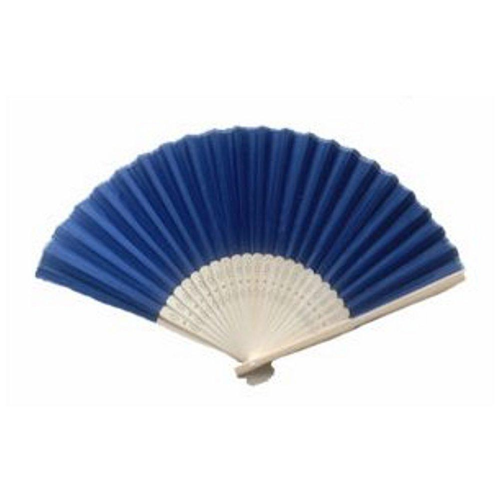 Silk Fan - Navy Blue (set of 10) - Sophie's Favors and Gifts