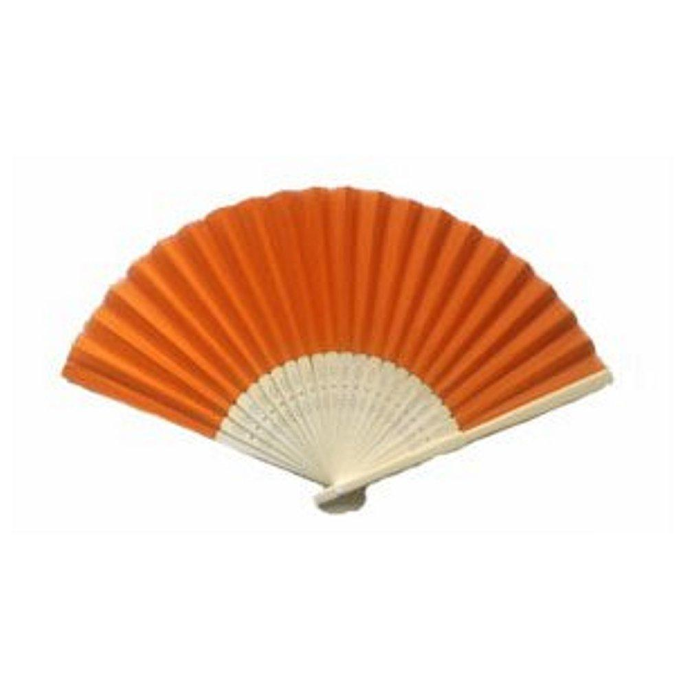 Silk Fan - Orange (set of 30) - Sophie's Favors and Gifts