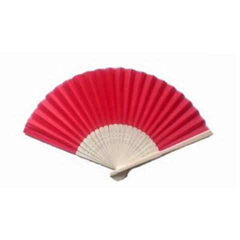 Silk Fan - Red (set of 10) - Sophie's Favors and Gifts